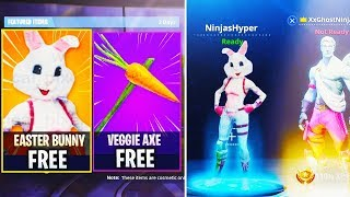 "NOUVEAU ""EASTER BUNNY"" SKIN GRATUIT à FORTNITE - UNLOCK ALL NEW Fortnite Battle Royale SKINS UPDATE!"