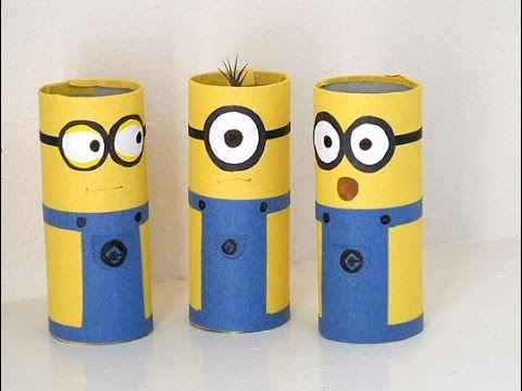 How to Make Adorable DIY Minions Craft Ideas - Cardboard Tube Minions - Tutorial .