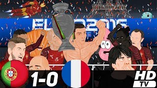 португалия - Франция 1-0 (Анимация) - Обзор Матча Финал Чемпионат Европы 10/07/2016 HD