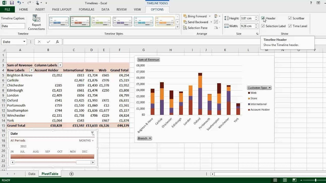 Excel 2013 Amp 2016 Timelines Vs Slicers For Filtering