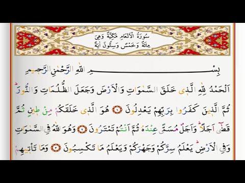 Surah Al An'am - Saad Al Ghamdi surah anaam with Tajweed