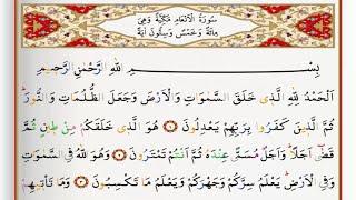 surah al an am saad al ghamdi surah anaam with tajweed