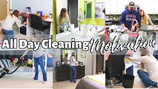 All Day CLEANING MOTIVATION // Whole House // Cleaning Mom