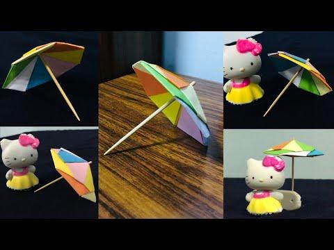 How to make a beautiful paper umbrella  multi color umbrella   paper craft  diy