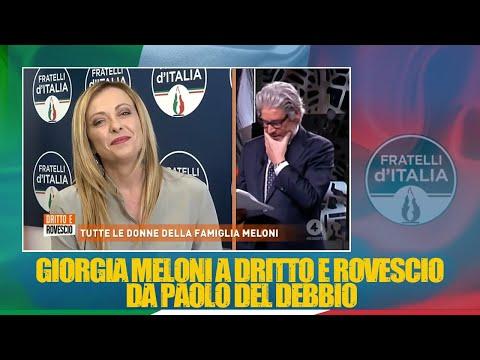 Giorgia Meloni a Dritto e Rovescio da Paolo Del Debbio. Da non perdere!