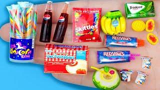 14 EASY REALISTIC DIY MINIATURE BARBIE IDEAS ~ Mini Bananas, Yogurt, Unicorn pops and more!
