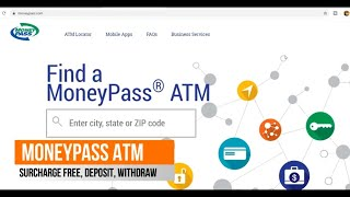 MONEYPASS ATM , Free ATM withdrawals , Fees, Locations Near Me, ATM  Locator App