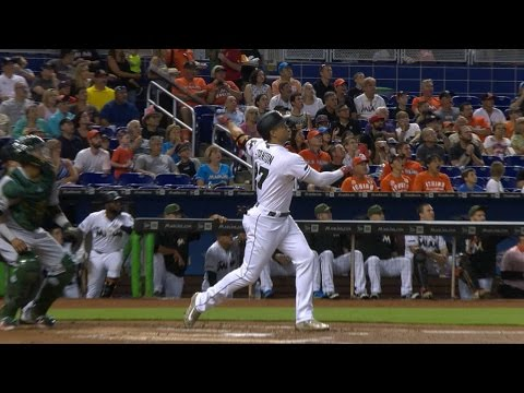 5/28/17: Riddle drives in three in Marlins
