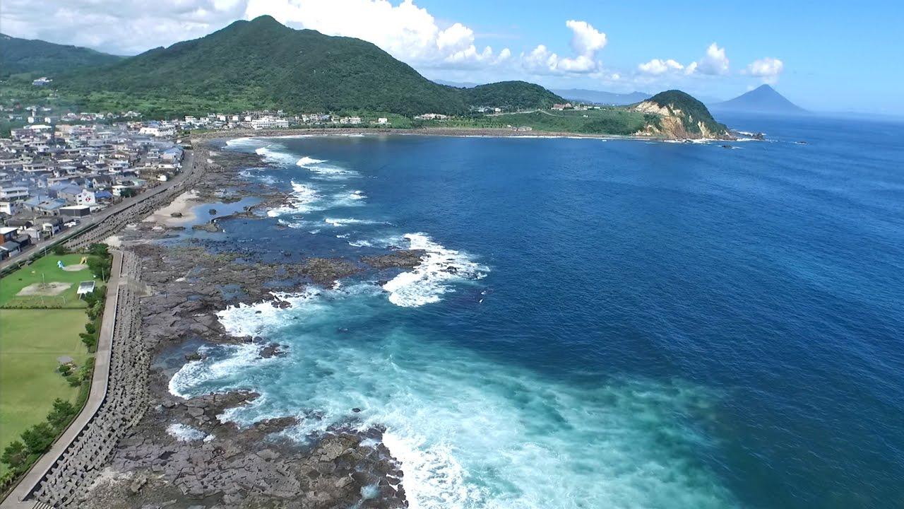 『ドローン空撮』 鹿児島県 枕崎市 - YouTube