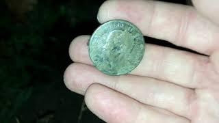 Ночной выход на коп и Очень много монет