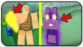 The Gold Club And Shadow Bear Are Overpowered In Roblox Caveman Simulator
