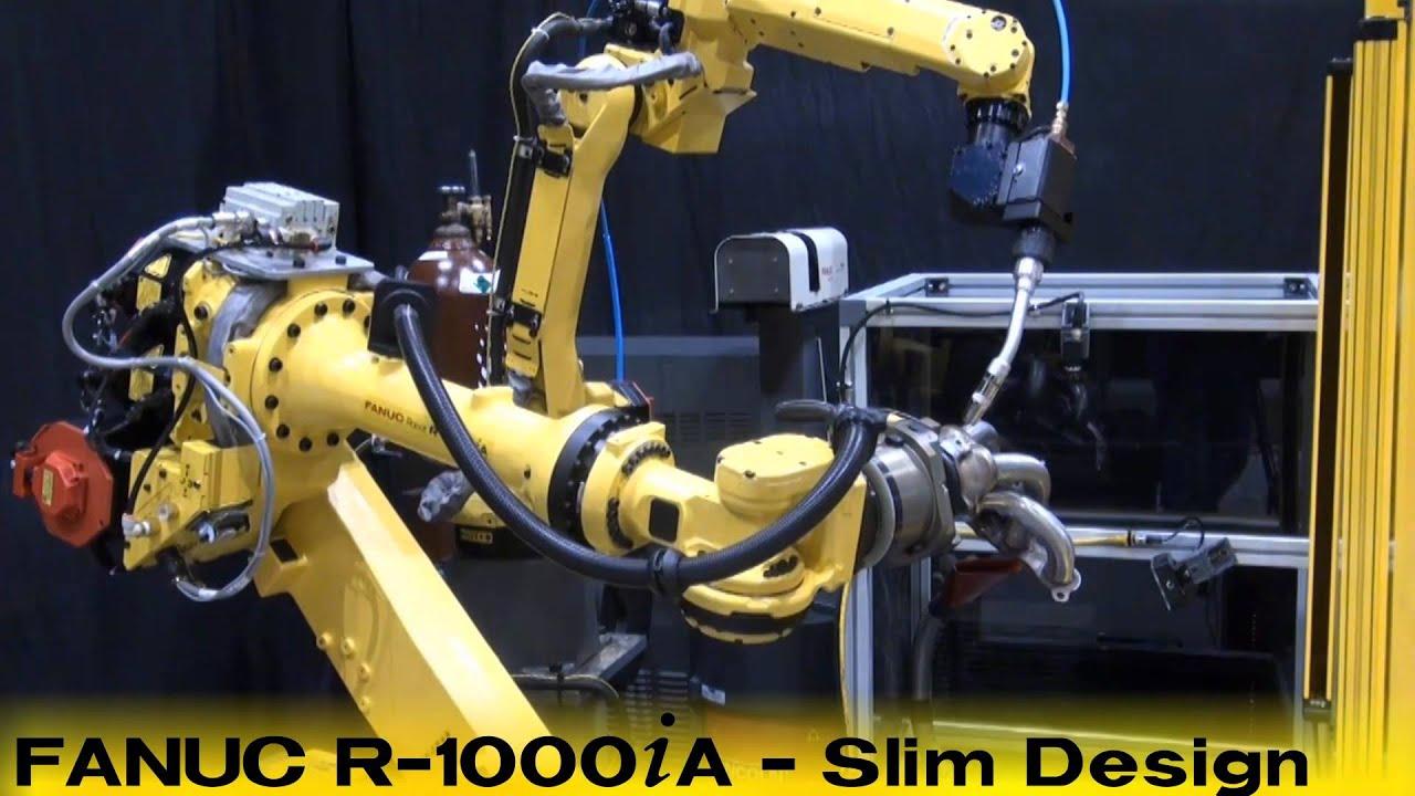 ARC Mate 100iC Welding Robot Performs Live Arc Weld -- FANUC Robotics  Industrial Automation