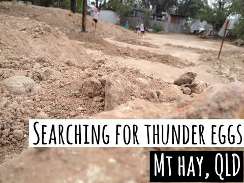 Travel Australia with Kids - Fossicking for Thundereggs in Mt Hay, Queensland