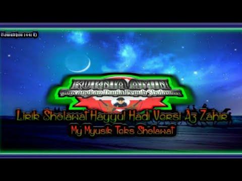 lirik-sholawat-hayyul-hadi-cover-az-zahir