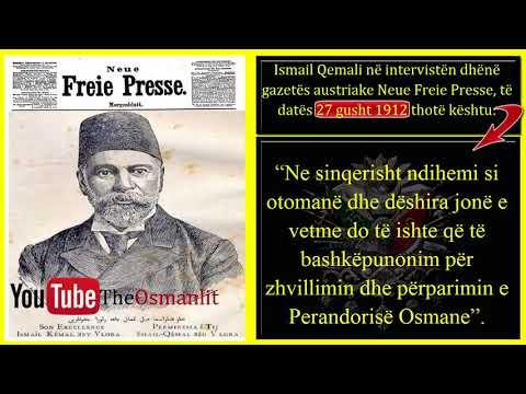 Ismail Qemali në intervistën dhënë gazetës austriake Neue Freie Presse, të datës 27 gusht 1912