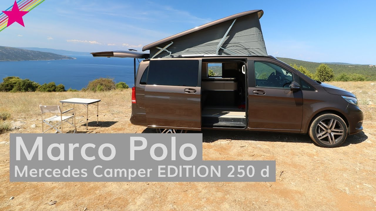 mercedes camper marco polo edition 250 d youtube. Black Bedroom Furniture Sets. Home Design Ideas