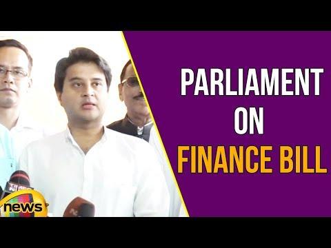 Jyotiraditya Scindia Addresses Media in Parliament on Finance Bill | Mango News