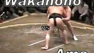 Bonus Sumo: Ama's Win With Slow Motion and English Comments!