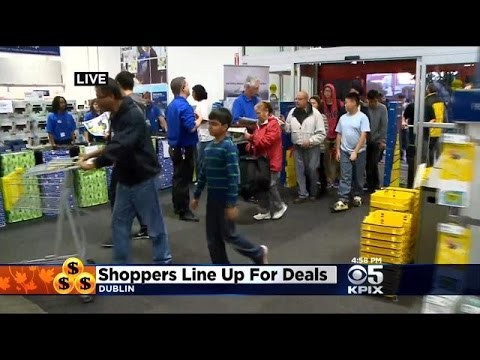 Black Friday Rush Begins At Stores Across Bay Area - YouTube