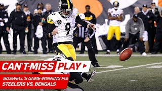 Big Ben Leads Game-Winning Drive Capped Off by Boswell's Clutch FG! | Can't-Miss Play | NFL Wk 13