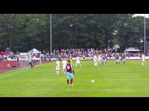 Marko Arnautovic first Freekick for West Ham United