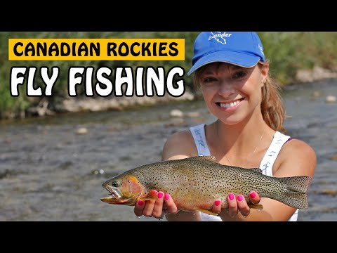 WESTSLOPE CUTTHROAT TROUT AND WHITEFISH - Fly Fishing In The Canadian Rockies | Fishing With Rod