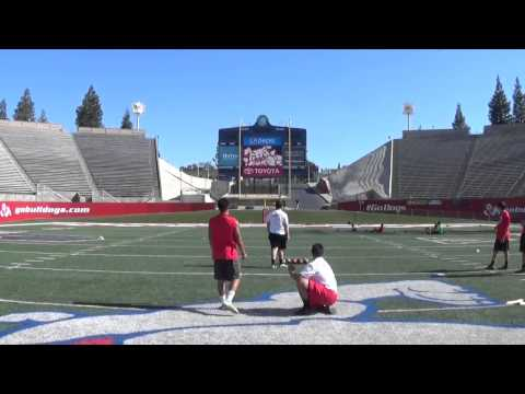 Andrew Rodriguez kicker/punter Fresno State specialist camp charting St. John Bosco