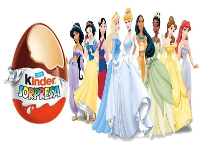 6 DISNEY PRINCESS KINDER SURPRISE EGGS 6 HUEVOS KINDER DE PRINCESAS DISNEY.KINDER EGGS DISNEY Videos De Viajes
