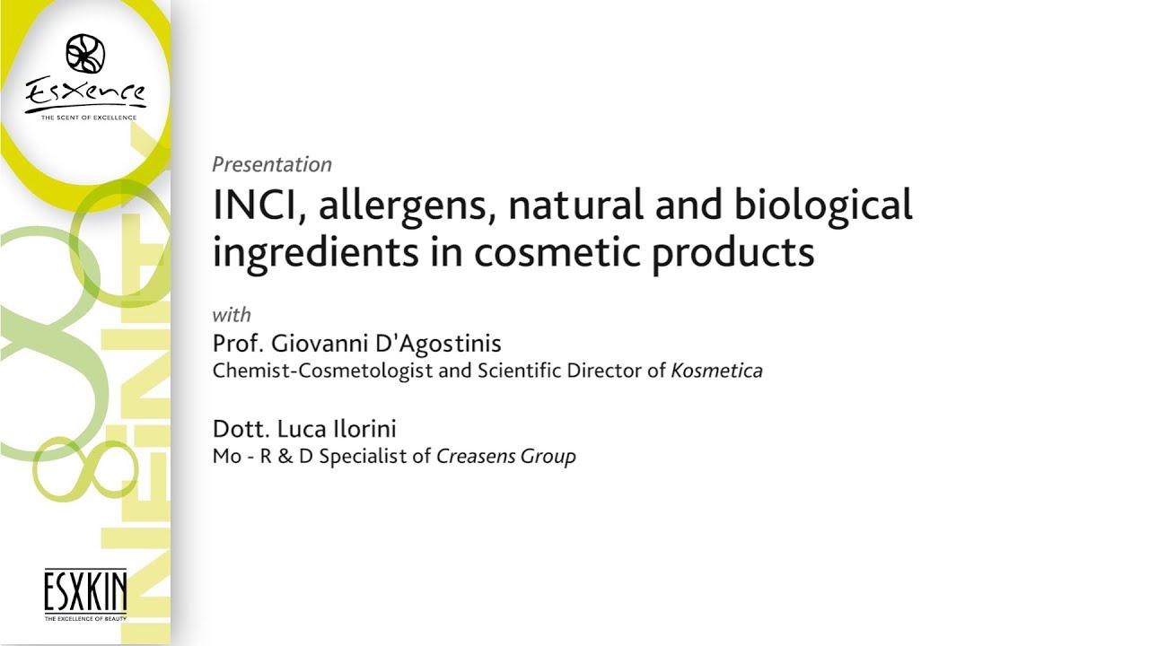 Esxence 2016 - INCI, allergens, natural and biological ...