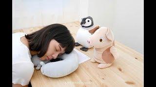 可愛動物兩用頸枕