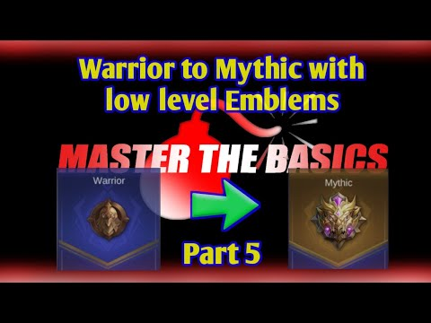 Part 5 | How fast can I reach Mythic with low level Emblems ?  Mobile Legends | Master the Basics