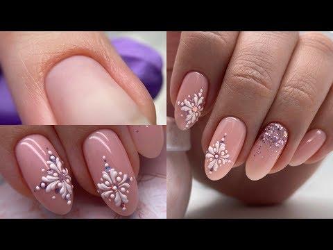 УРА! НОВОГОДНИЙ дизайн ногтей.  Красивое мерцание  с объемным дизайном.