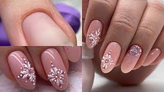 УРА НОВОГОДНИЙ дизайн ногтей Красивое мерцание с объемным дизайном