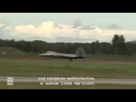 Ämaris maandusid USA hävitajad F-22