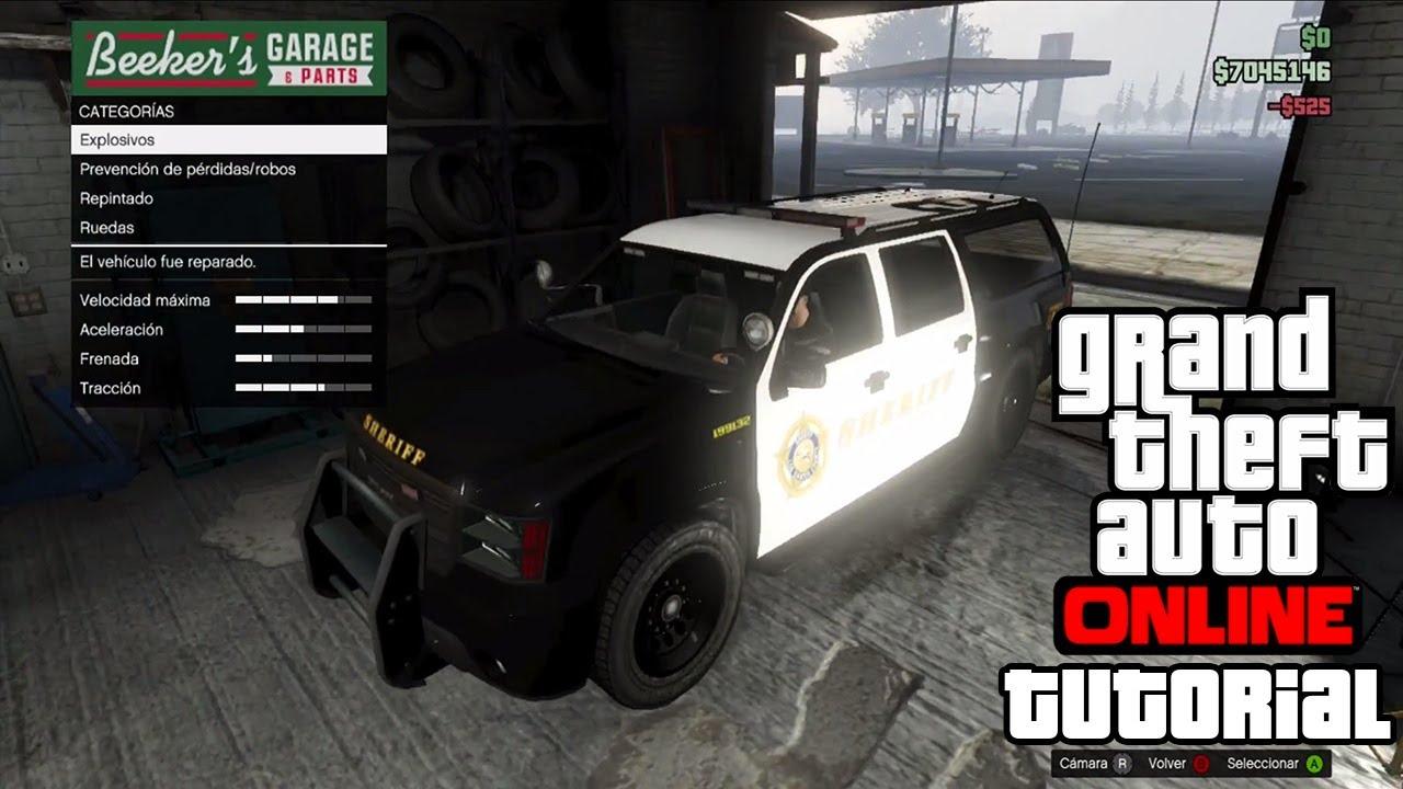 Gta v online como asegurar y guardar una camioneta de policia sheriff youtube - Asegurar coche un mes ...