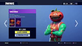 TOMATO HEAD SKIN RETURNS! Fortnite Item Shop | August 23, 2018