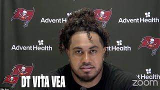 Vita Vea on Bucs Run Defense & Rookie Antoine Winfield Jr.   Press Conference