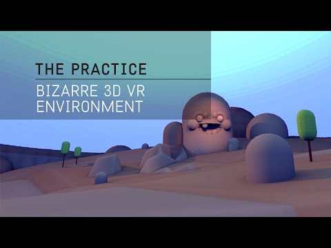 The Practice // 10 / Bizarre 360° environment for VR in c4d