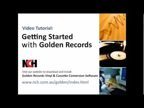 Golden Records Vinyl To CD Or Mp3 Converter | Tutorial