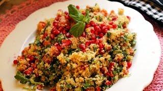 Easy Bulgur Salad With Pomegranate / By Aysenur Altan