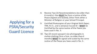 How to apply for a PSRA - Security Guard Licence in Jamaica
