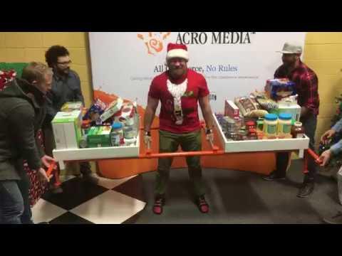 Acro Media's 400 lbs Central Okanagan FOOD BANK CHALLENGE! Final Day lift recap