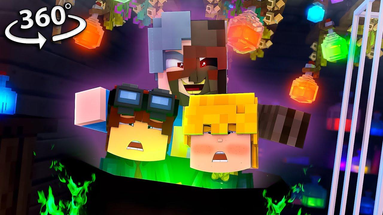 YOU find GRANNYS SECRET ! in 360/VR! - Minecraft VR Video