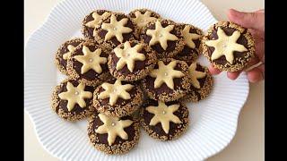 Susam mantolu yıldız kurabiye 👉🏻 Bera Tatlı Dünyası