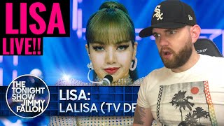 [American Ghostwriter] Reacts to: LISA: LALISA (TV Debut) | The Tonight Show Sta