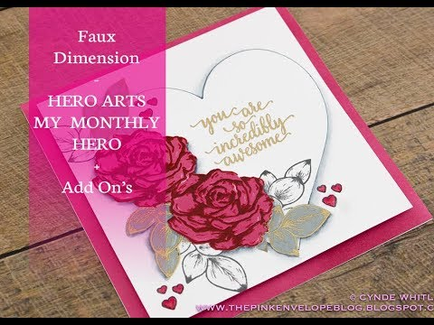 Faux Dimension feat. Hero Arts My Monthly Hero January 2018 with Add On's