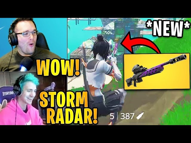 Streamers USE the *NEW* STORM SCOUT SNIPER RADAR! | Fortnite Highlights & Funny Moments