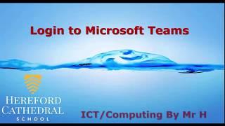 How to login t๐ Microsoft Teams