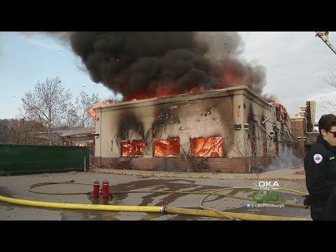 Waterfront Building Goes Up In Flames For Training Exercise, Controlled Burn