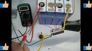 LIFEPO4. Плата PCB BMS 4S Литий-железо-фосфатный аккумулятор.